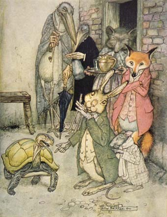 The Tortoise and the Hare, by Arthur Rackham
