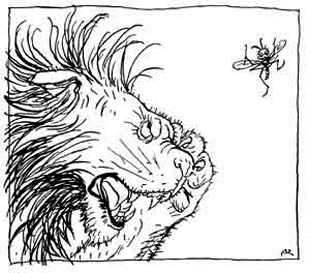 The Gnat and the Lion, by Arthur Rackham