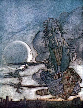 The Moon and Her Mother, by Arthur Rackham