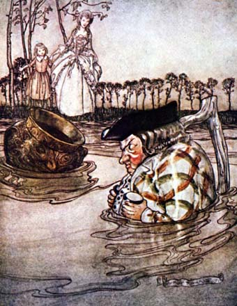 The Two Pots, by Arthur Rackham