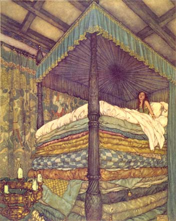 The Princess and the Pea, by Edmund Dulac