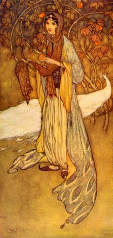 Scheherazade, the Heroine of the Thousand and One Nights, by Edmund Dulac