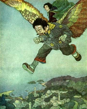 The Eastwind Flew More Swiftly Still, by Edmund Dulac