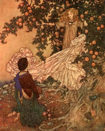The Fairy of the Garden, by Edmund Dulac
