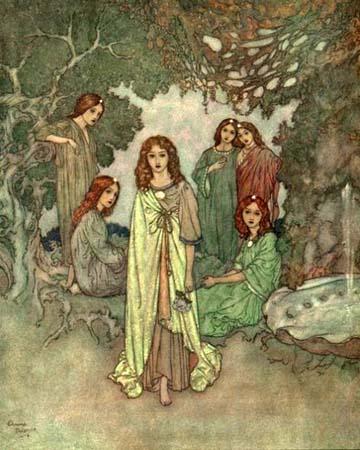 The Fairy was Hidden in the Branches, by Edmund Dulac