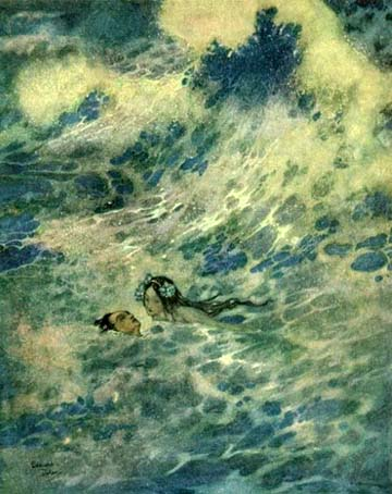 She Saved the Prince, by Edmund Dulac