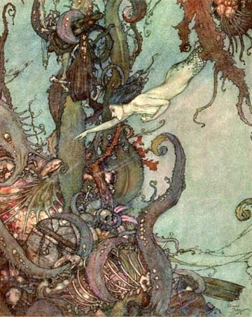 The Liquid Sparkled, by Edmund Dulac