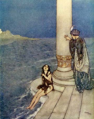 The Prince Asked Who She Was, by Edmund Dulac