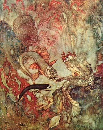 The Merman King, by Edmund Dulac