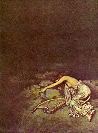 Sonnet - Silence, by Edmund Dulac