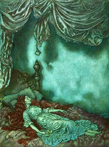The Sleeper, by Edmund Dulac
