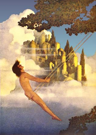The Dinkey Bird, by Maxfield Parrish