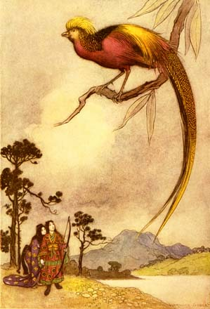 The Singing Bird of Heaven, by Warwick Goble