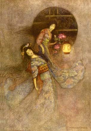 The Peony Lantern, by Warwick Goble